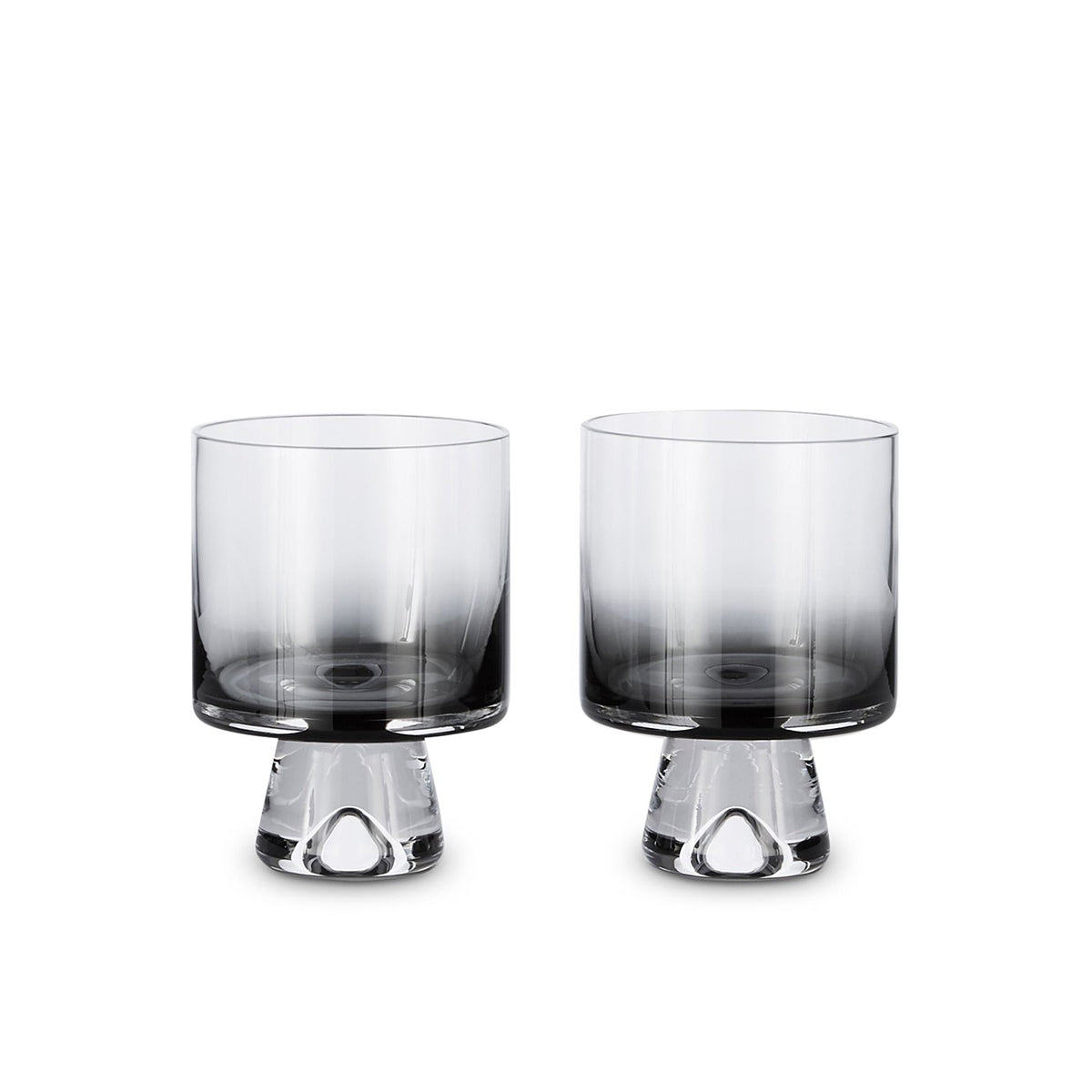 Tank Low Ball Glass Black / Set 2