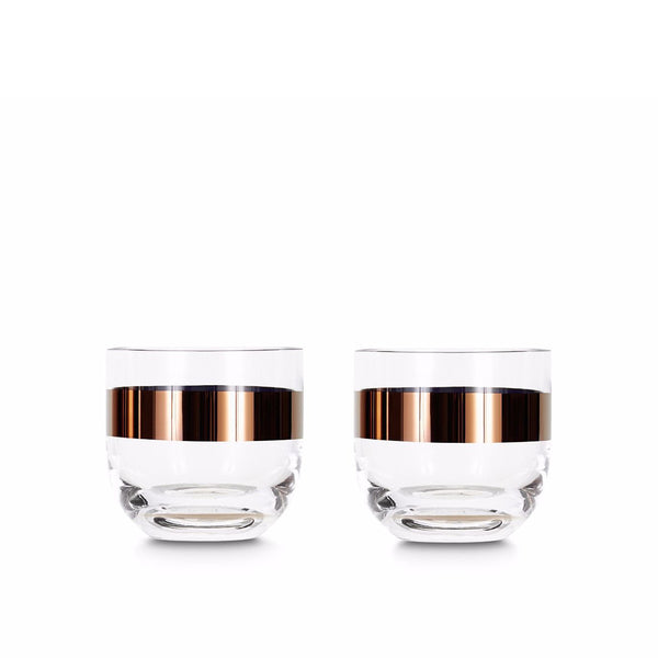 Tank Whiskey Glass Copper / Set 2