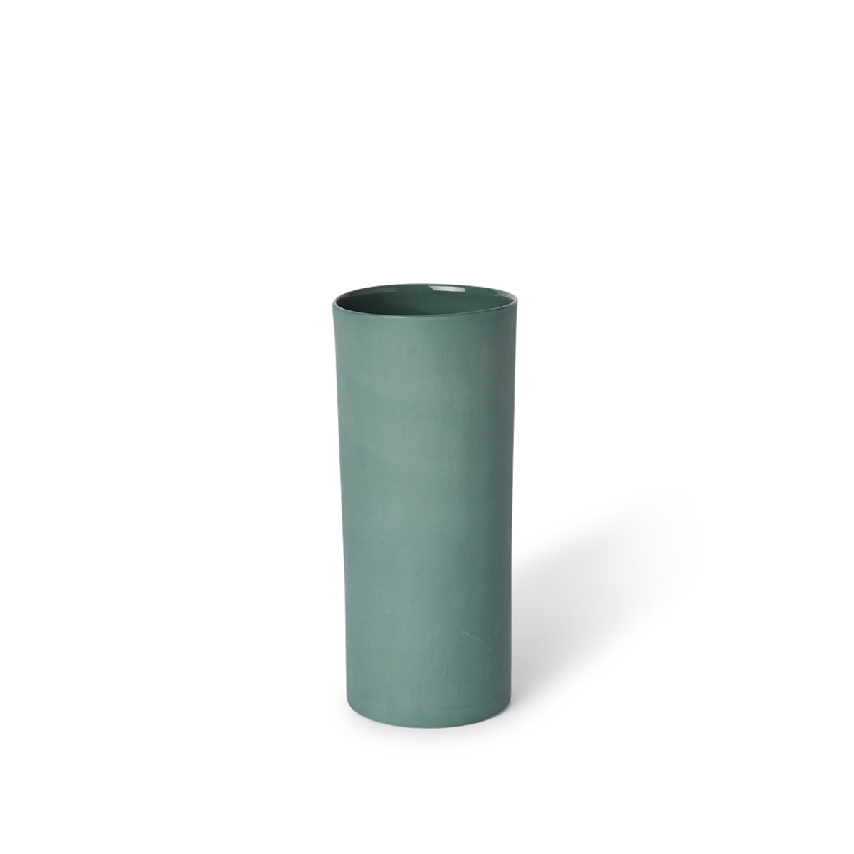 Round Vase Medium Bottle Green