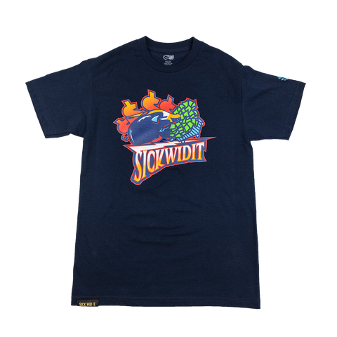 Navy Warriors Throwback Tee