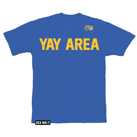 Warriors Blue YAY AREA Tee