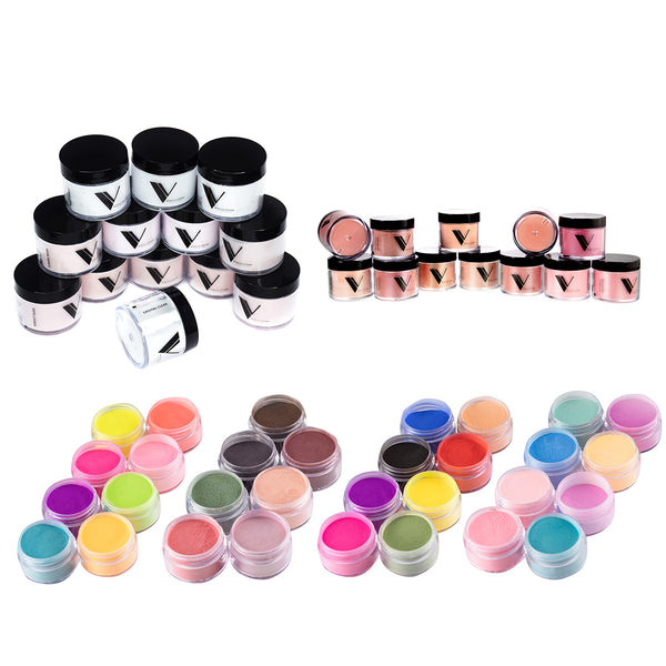 Acrylic Powder - Acrylic System by Valentino Beauty Pure - Pigment and Cover Collection Bundle Deal