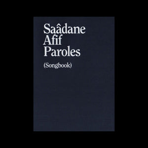 Saâdane Afif - Paroles (Songbook)