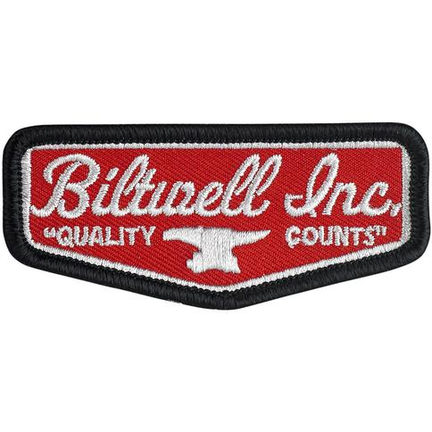 "Biltwell SHIELD PATCH 3"" - RED/WHITE"