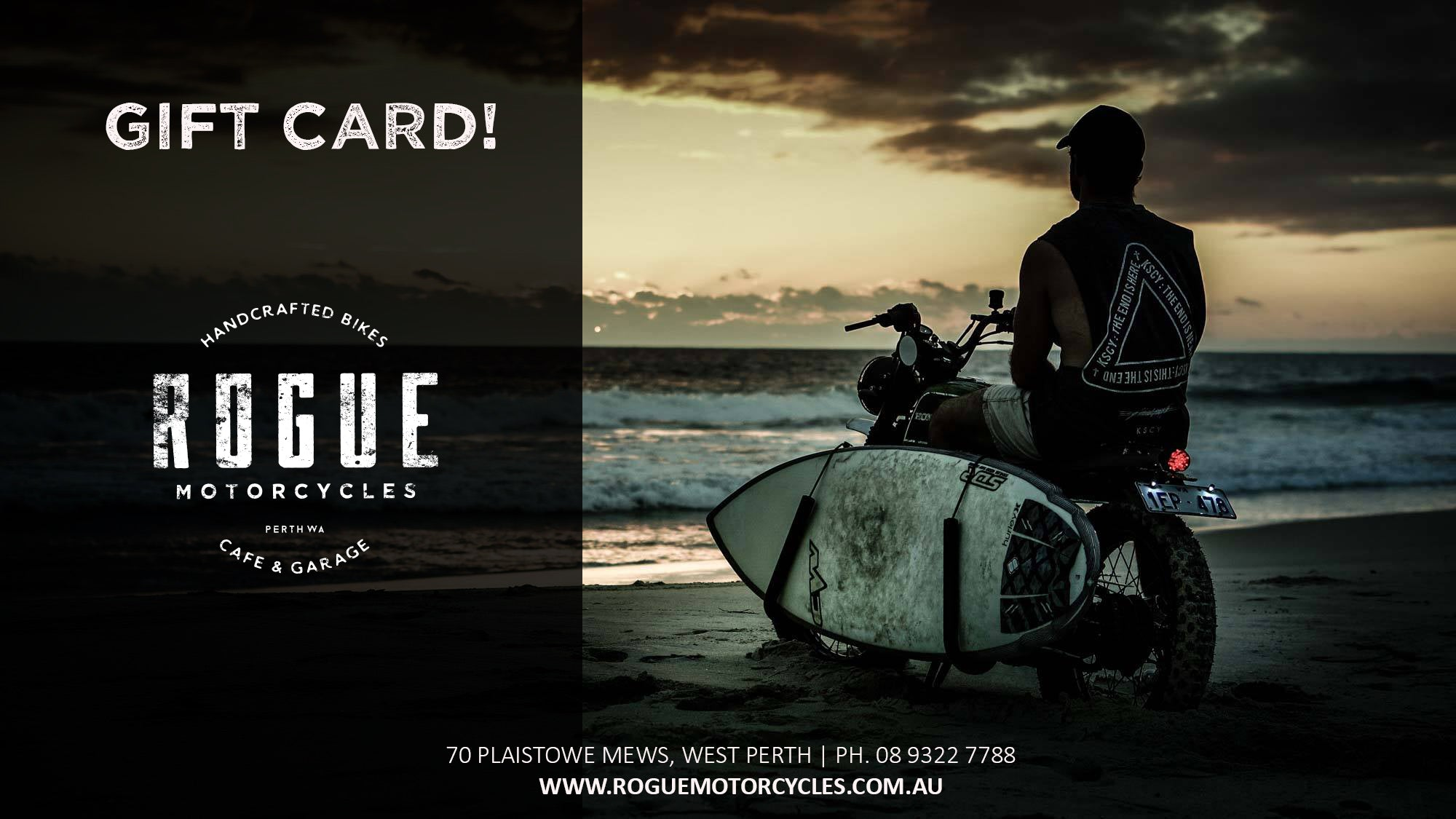 Rogue Motorcycles Gift Voucher