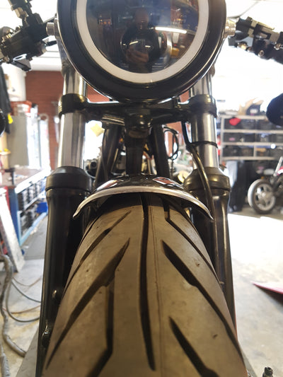 cb350 cb360 cb450 cb500 cb550 fender rogue motorcycles perth western australia custom stainless mudguard cafe racer motorcycle bike