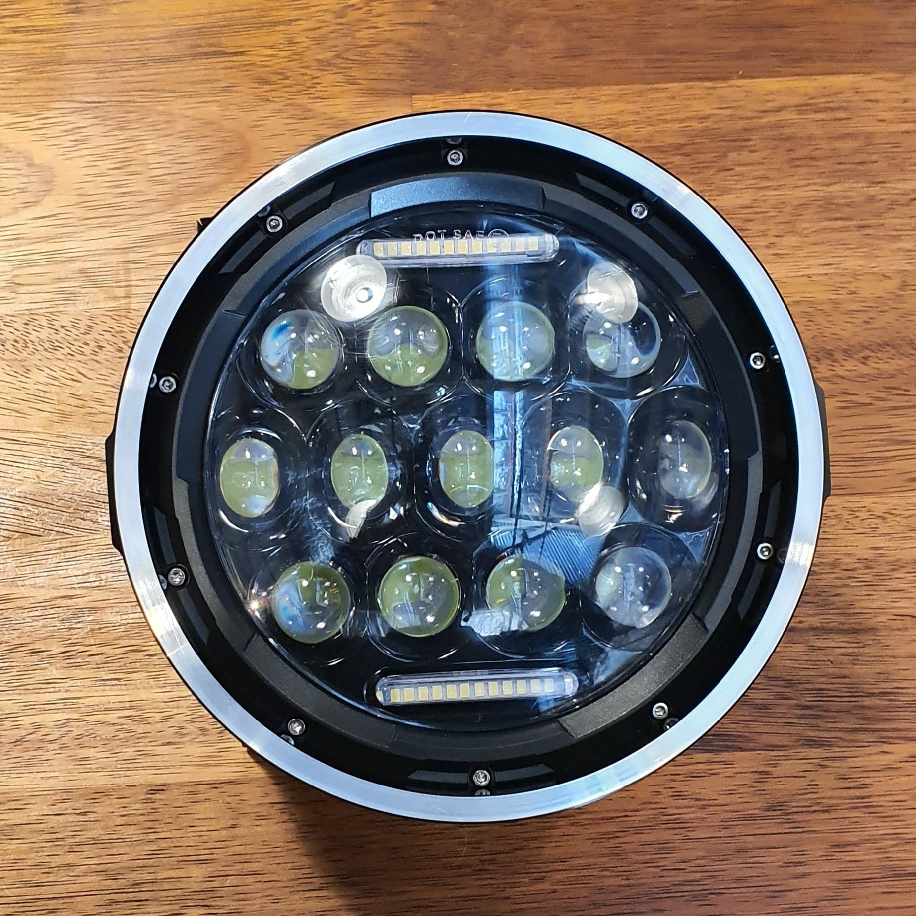 "rogue motorcycles perth australia 7 inch headlight led projector multiled 7"" cafe racer tracker custom bike motorbike WA NEW multi led 7 bezel"