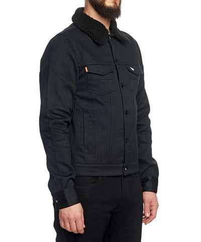 SAINT UNBREAKABLE JACKET WITH DETACHABLE BLACK SHEARLING COLLAR