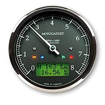 MOTOGADGET CHRONOCLASSIC TACHO 8000rpm POLISHED BEZEL