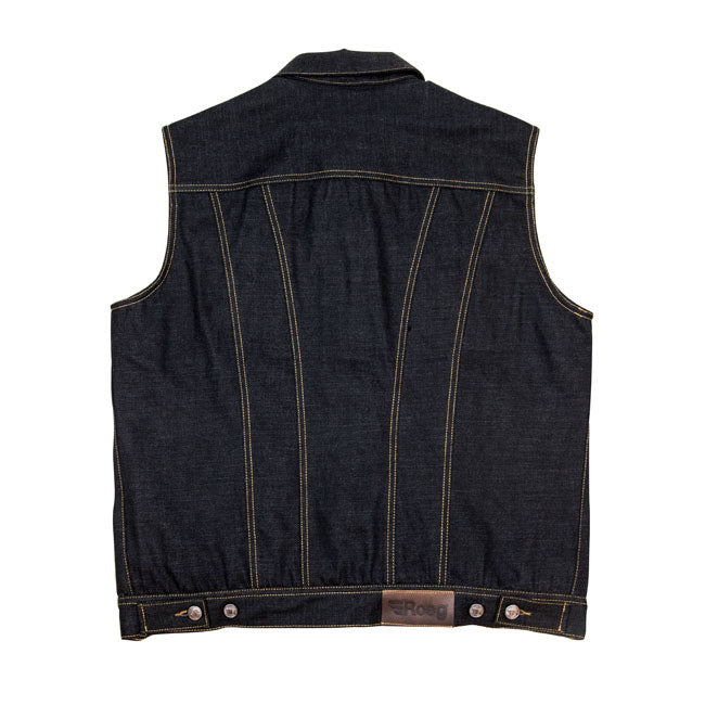 ROEG KALE Men's sticky blue denim vest
