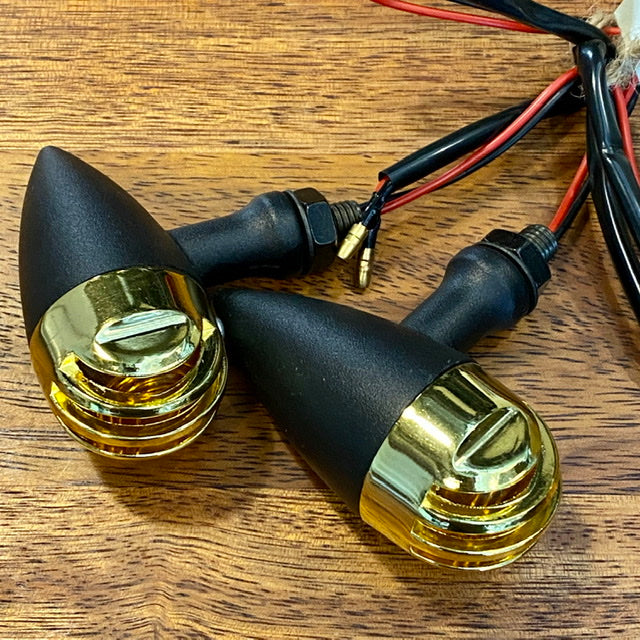 Jimmy Rocket Brass Look Indicators