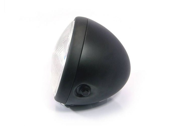 "7.5"" STEEL CAFE RACER MATTE BLACK HEADLIGHT ROGUE MOTORCYCLES PERTH"
