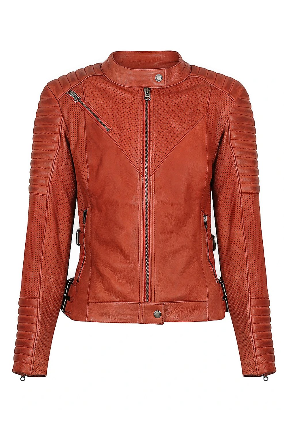 Wild & Free Rust Motorcycle Jacket Women