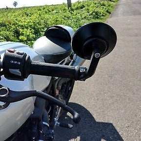 rogue motorcycles cnc bar end mirror perth parts custom bike motorbike