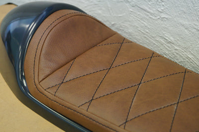 Classic Cafe Racer Seat by C.Racer | Dark Brown Upholstery