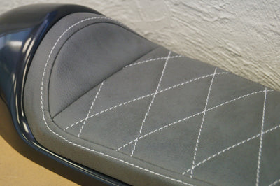 Classic Cafe Racer Seat by C.Racer | Gray Upholstery