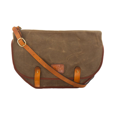 Ridgeback Motorcycle Messenger Waxed Canvas Bag for Unisex