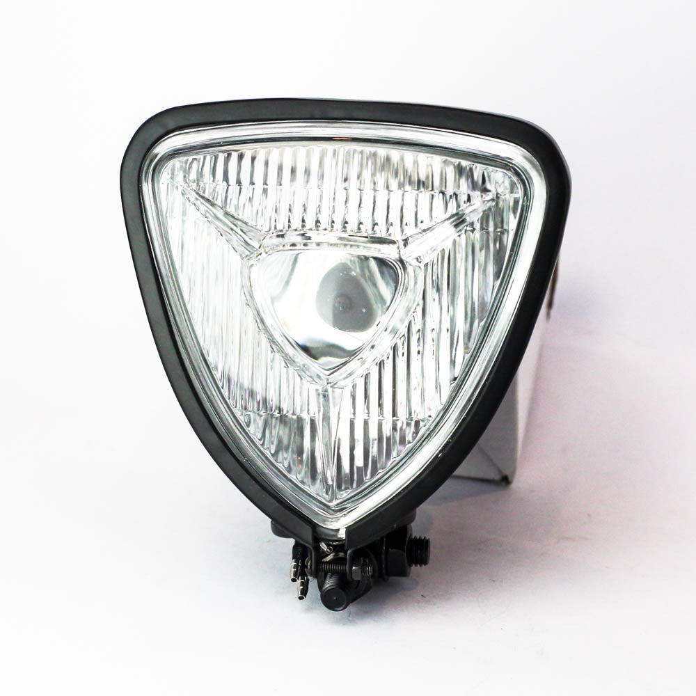 Rogue Motorcycles Triangle Headlight Bermuda Retro Black Bobber Chopper bottom Mount