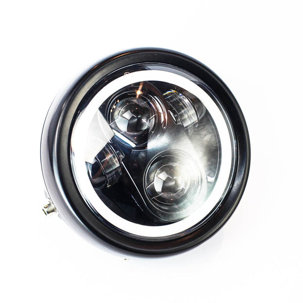 Rogue Motorcycles Daymaker Headlight LED Halo Angel Eyes 5 3/4