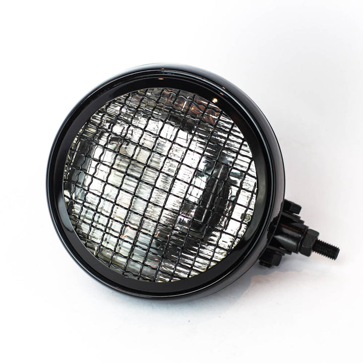 Rogue Motorcycles Triss Headlight mesh grill custom cafe racer scrambler brat tracker bike motorbike build black