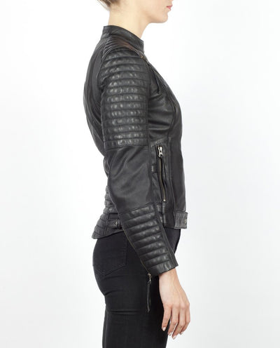 Wild & Free Black Motorcycle Jacket Women