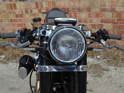 "6.75"" CLASSIC CHROME CAFE RACER HEADLIGHT"