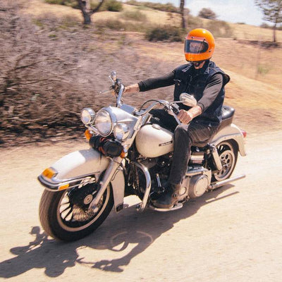 BILTWELL GRINGO BLAST SHIELD LARGE | CLEAR