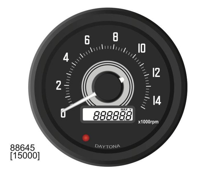DAYTONA VELONA 60MM TACHOMETER 15,000 RPM - TYPE 1