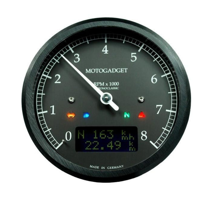 MOTOGADGET CHRONOCLASSIC TACHO 8000rpm Dark Edition