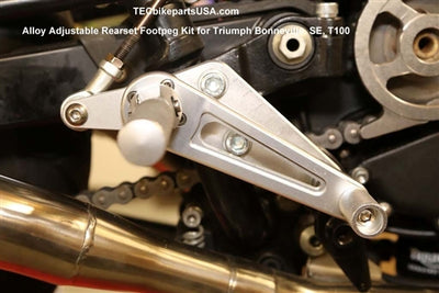 Rogue motorcycles perth australia rear sets set cafe racer universal anodised adjustable silver black triumph