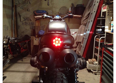 rogue motorcycles taillight round shin yo cafe racer tracker brat chopper harley davidson perth western australia