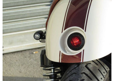 rogue motorcycles taillight round build in cafe racer tracker brat chopper harley davidson perth western australia