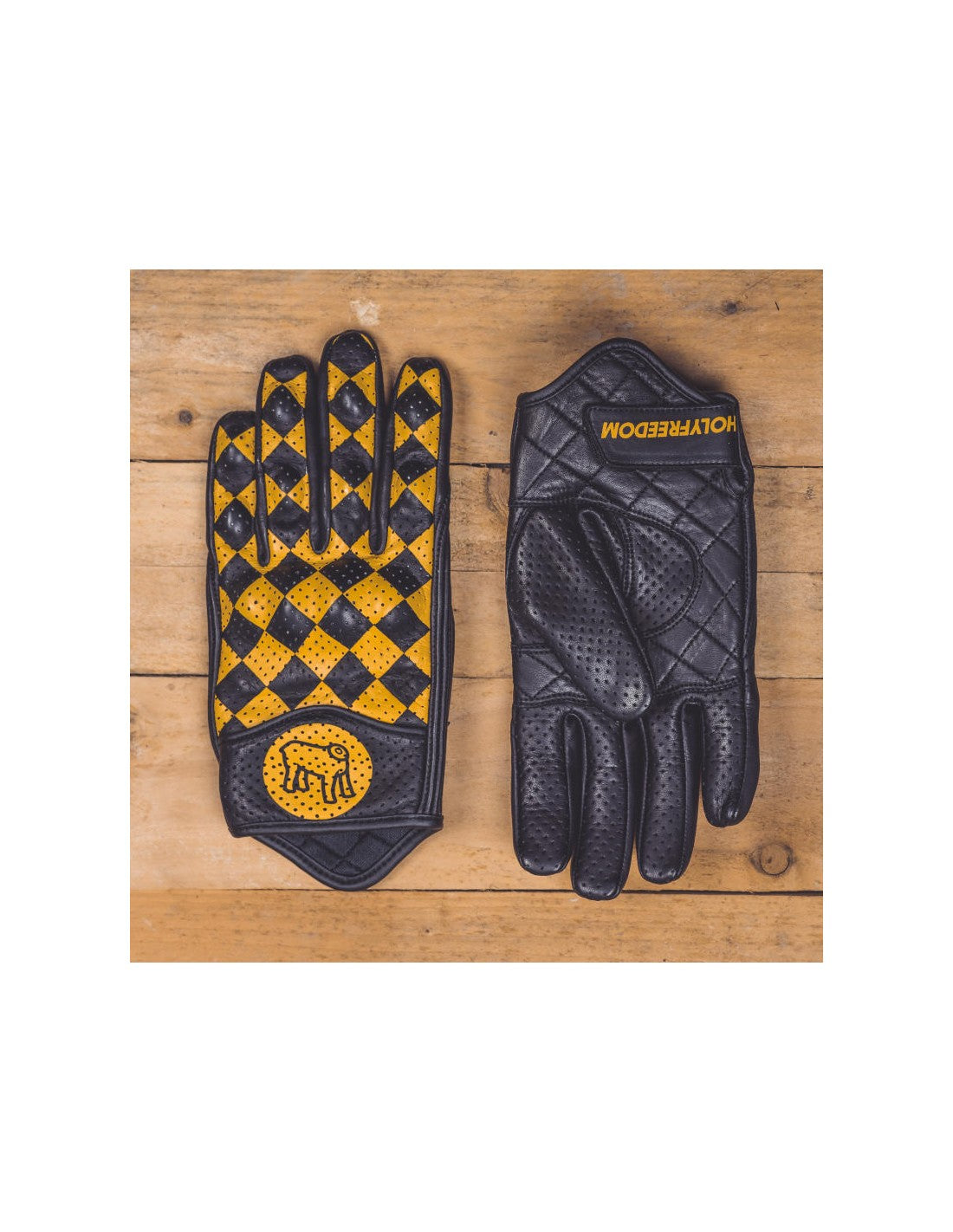 Rogue motorcycles, Yellow and black, bullit gloves, leather gloves, retro vintage gloves, motorcycle gear, perth wa australia, australia motorbike retailer, motorcycle apparel.