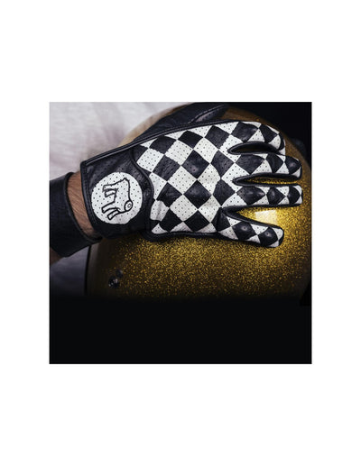 rogue motorcycles, perth wa australia, holy freedom, bullit gloves, leather gloves, checkered gloves, black and white gloves, holy freedom gloves, motorbike gloves, sports gloves, leather gloves.