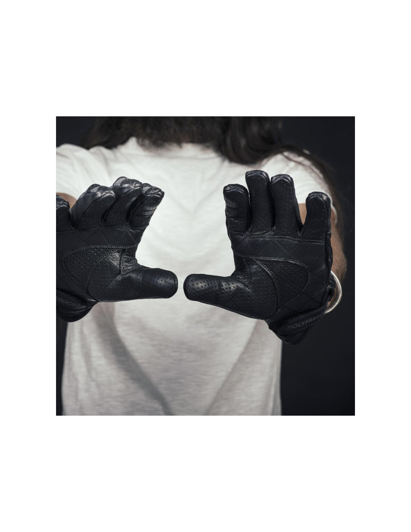 rogue motorcycles, bullit grey gloves, holy freedom gloves, motorbike gloves, biker gloves, rider gloves, leather gloves, motorbike gear, leather wear, perth wa australia.