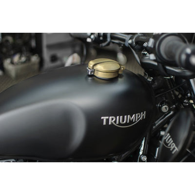 MOTONE MONZA CAP KIT FOR TRIUMPH AND HD - BRASS FINISH