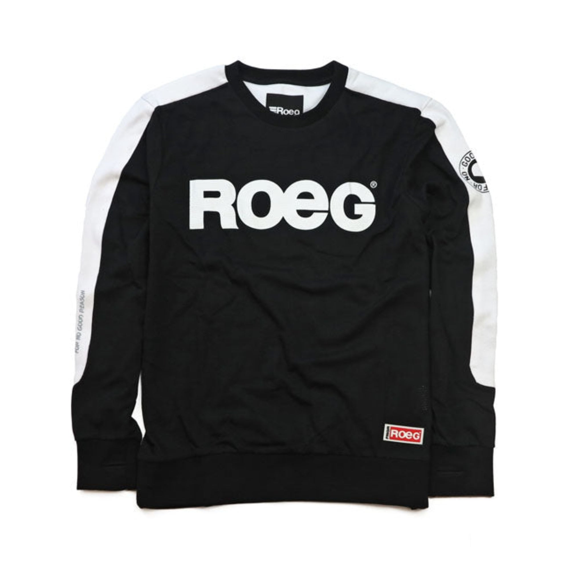 ROEG |  MENS RANDY SWEAT SHIRT | BLACK/WHITE