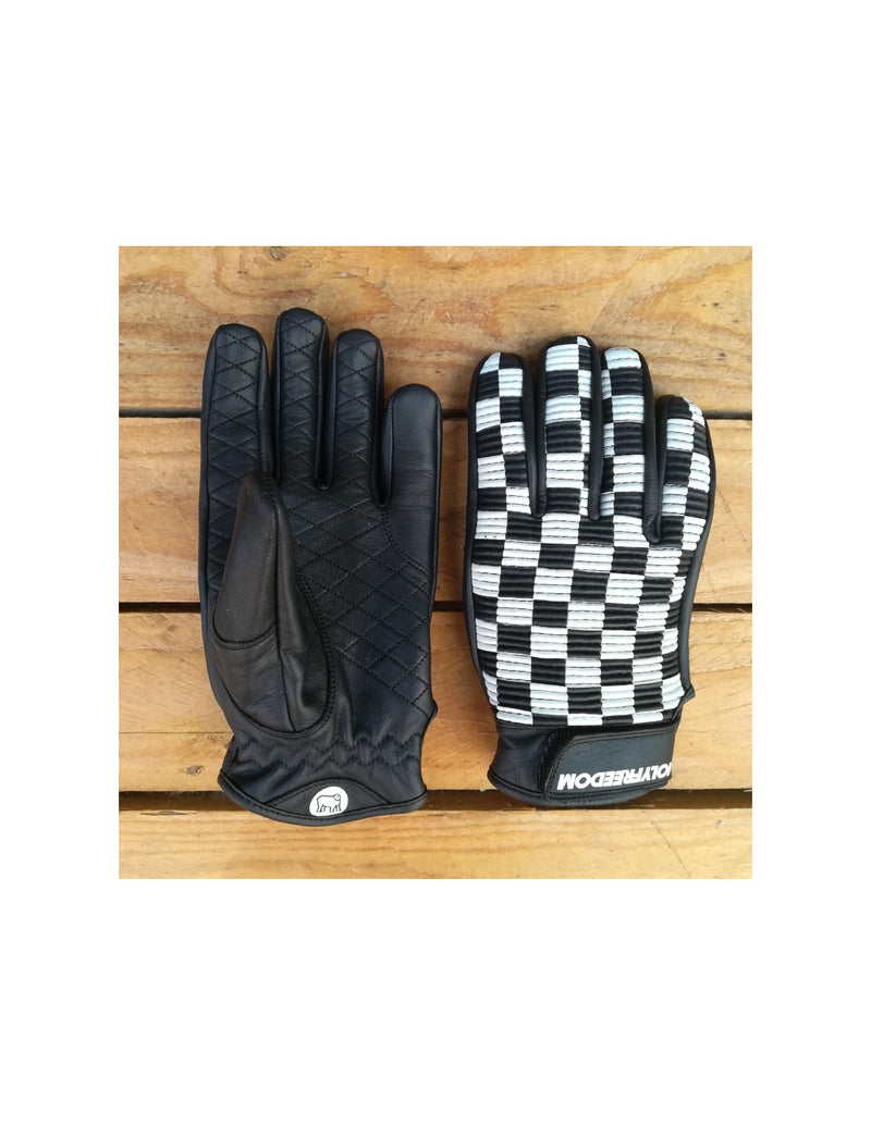 Motorbike gear, motorcycle gloves, checkered gloves, motorcycle gloves, moto gear, rider gear, vintage gear, retro gear, retro motorcycle gear, cafe racer gear, rogue motorcycles, retail store perth.