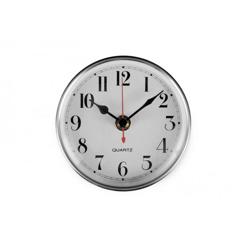 Clock White With Silver Surround