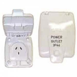 Clipsal Power Outlet 240V 10A White 10DWp For External Use