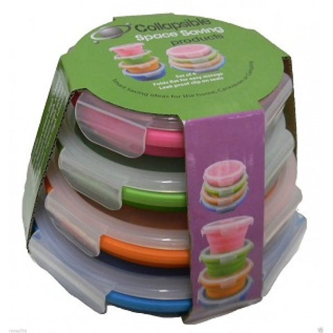 Collapsible Silicone Storage Containers Set of 4