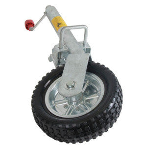 Al-Ko Jockey Wheel Solid Wheel With Locking Swivel Bracket
