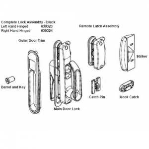 Camec 3P Lhh Door Lock Comp (Suits All 3P Lhh Doors)  sc 1 st  VanGo Caravan Services : camec doors - pezcame.com