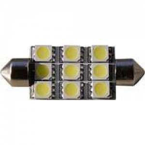 LED Festoon Replacement 9 Chips - Single 39mm