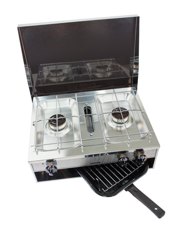 Spinflo 2 Burner Hotplate & Grill