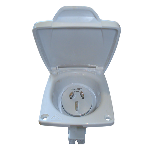 CMS 15AMP Plug Power Inlet White