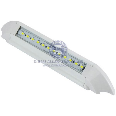 45 Degree LED Alloy Awning White 12V 12x5630 SMD 243mm