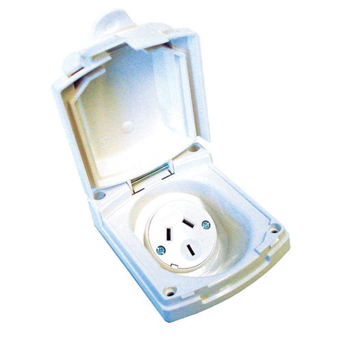 Clipsal Power Outlet New Style White 10A 240V