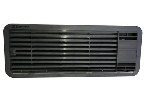 BLACK Dometic Upper Fridge Vent (incl. Frame and Side Insert)