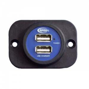 Baintech Dual USB Socket Flush Mount